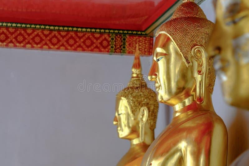 Άγαλμα του Βούδα σε Wat Pho, Μπανγκόκ Ταϊλάνδη στοκ φωτογραφία