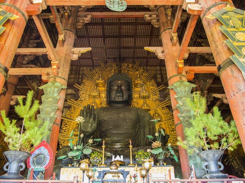 Άγαλμα του Βούδα Daibutsu Todai-todai-ji, Νάρα στοκ φωτογραφίες με δικαίωμα ελεύθερης χρήσης