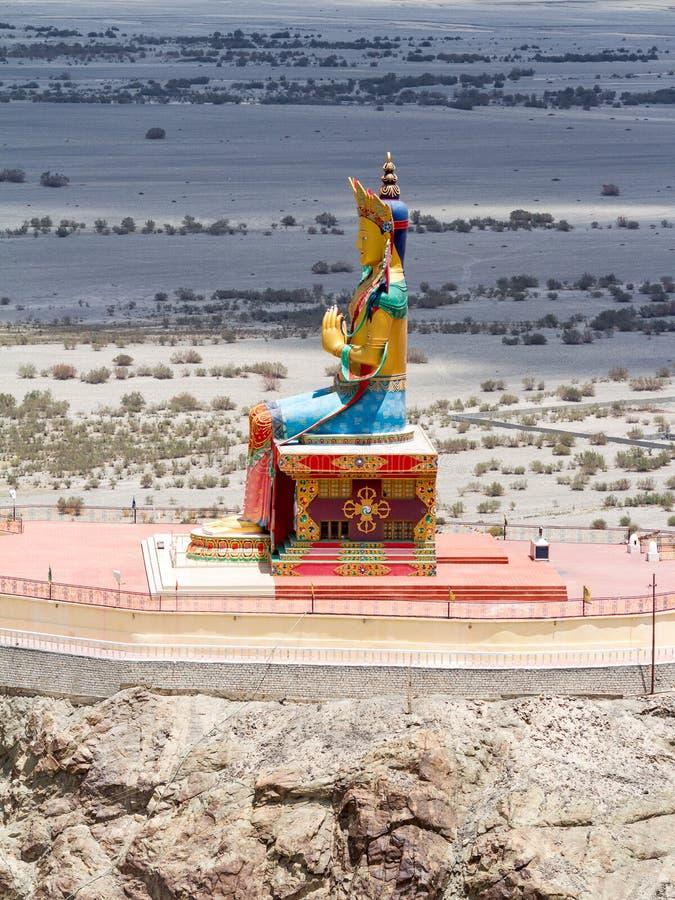 Άγαλμα του Βούδα Maitreya στην κοιλάδα Nubra στοκ εικόνες με δικαίωμα ελεύθερης χρήσης