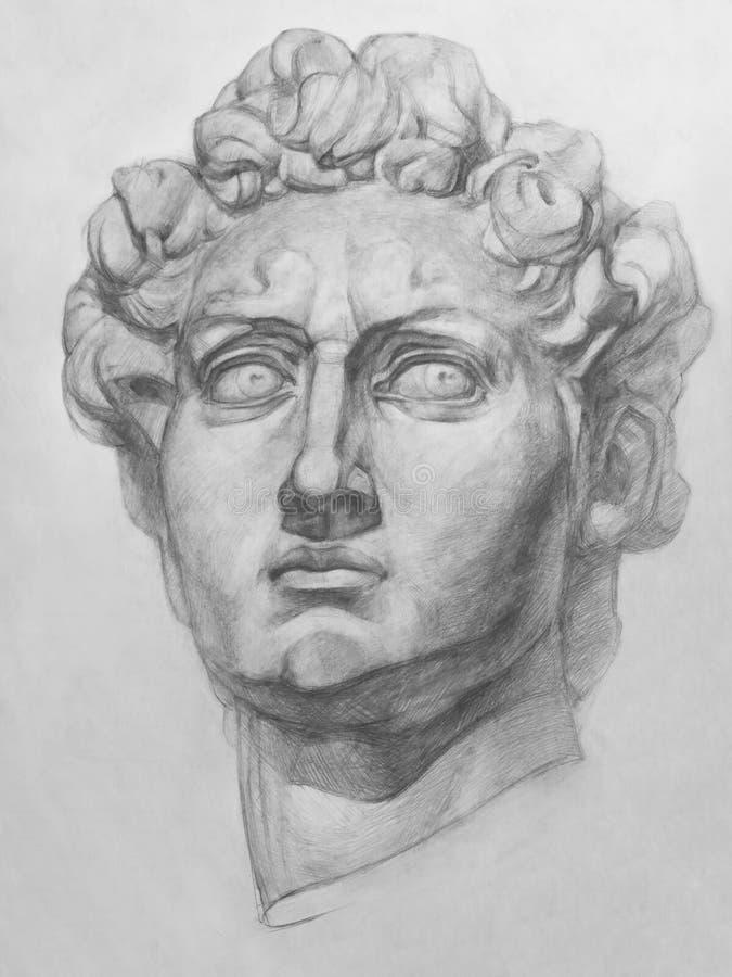 Άγαλμα του Δαβίδ Michelangelo διανυσματική απεικόνιση