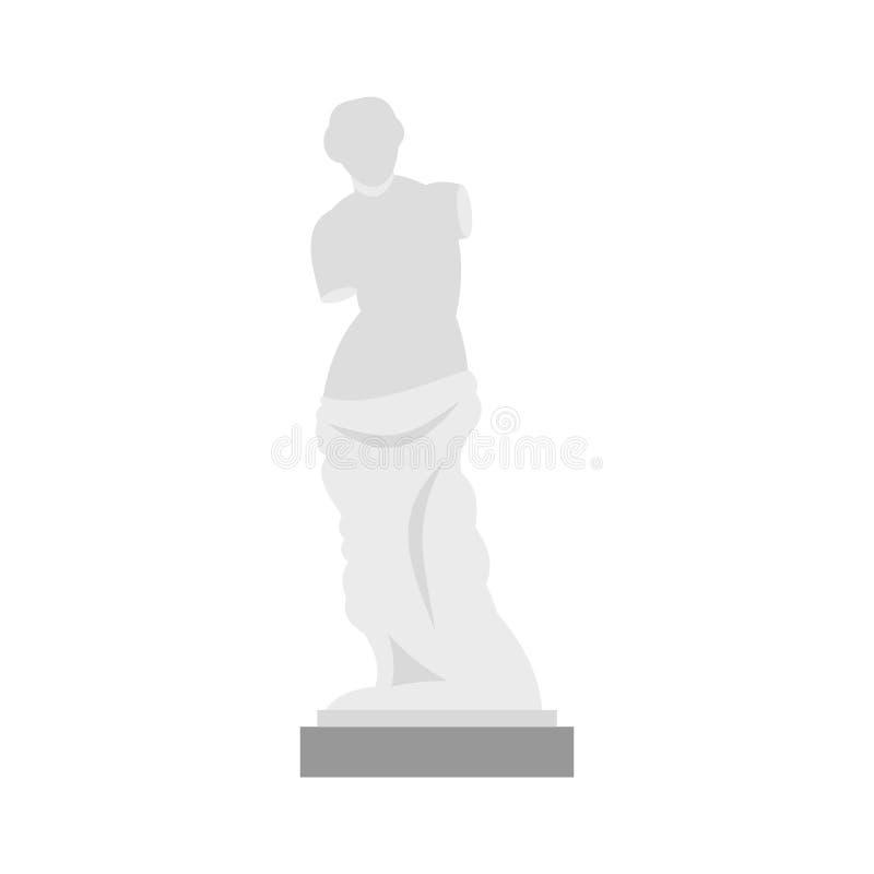 Άγαλμα του εικονιδίου της Αφροδίτης de Milo, επίπεδο ύφος διανυσματική απεικόνιση