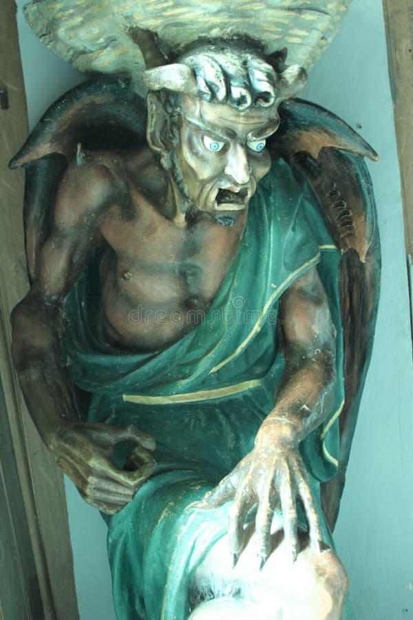 Άγαλμα του διαβόλου στοκ φωτογραφία