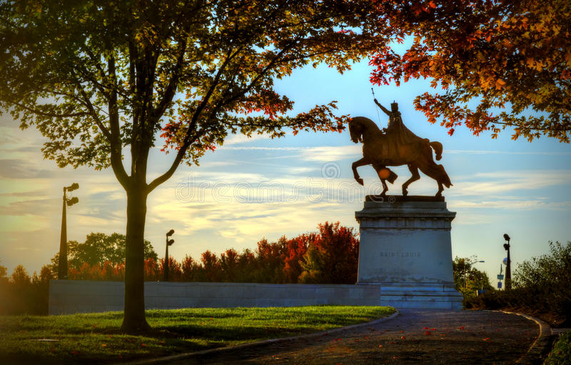 Άγαλμα του Σαιντ Λούις στοκ εικόνες με δικαίωμα ελεύθερης χρήσης