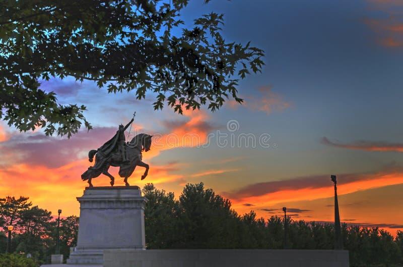 Άγαλμα του Σαιντ Λούις στοκ φωτογραφία