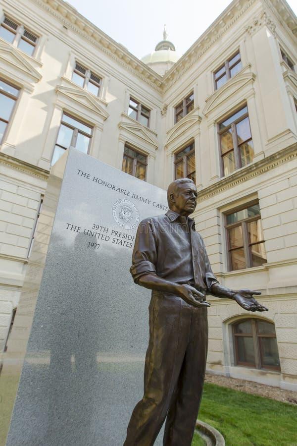 Άγαλμα του Τζίμι Κάρτερ στοκ φωτογραφίες με δικαίωμα ελεύθερης χρήσης