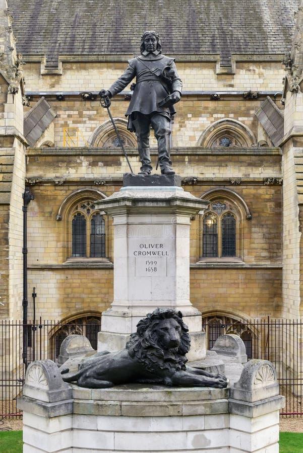 Άγαλμα του Όλιβερ Κρόμγουελ - Λονδίνο στοκ φωτογραφίες