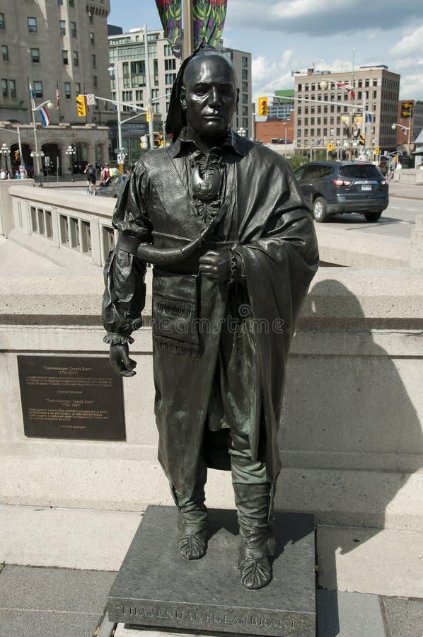 Άγαλμα του aka του Joseph Brant Thayendanegea - Οττάβα - Καναδάς στοκ φωτογραφίες με δικαίωμα ελεύθερης χρήσης