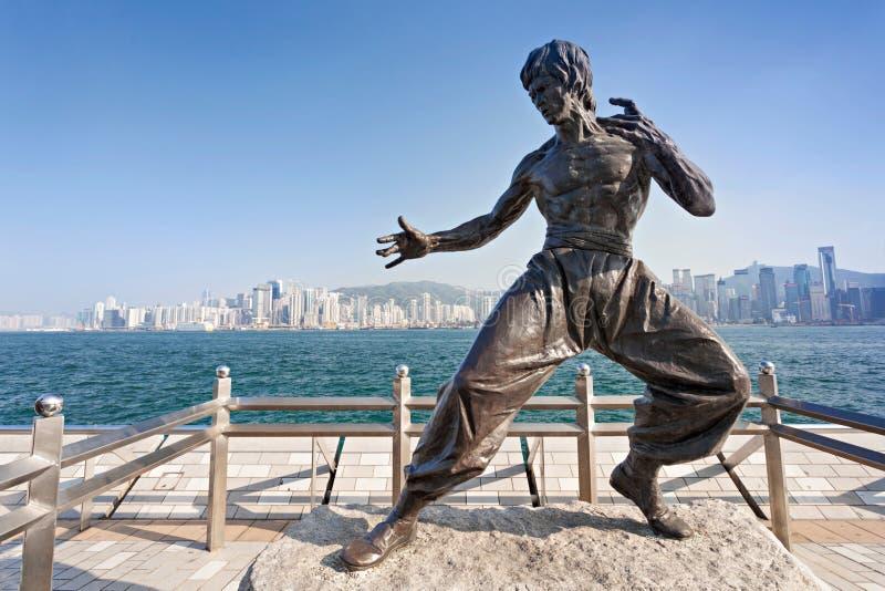 Άγαλμα του Bruce Lee στοκ φωτογραφίες