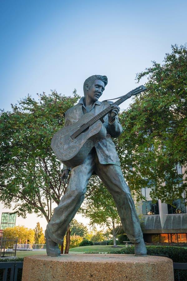 Άγαλμα του Elvis Presley στη Μέμφιδα στοκ εικόνες με δικαίωμα ελεύθερης χρήσης