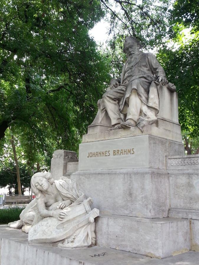 Άγαλμα του Johannes Brahms, Βιέννη, Αυστρία στοκ εικόνες