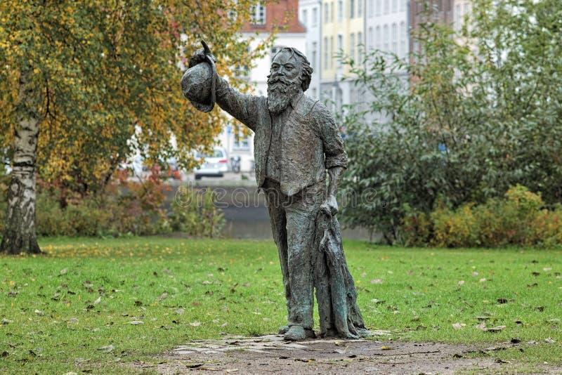Άγαλμα του Johannes Brahms στο Λούμπεκ, Γερμανία στοκ φωτογραφίες