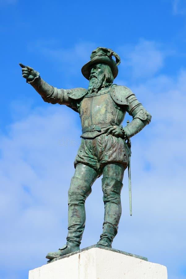 Άγαλμα του Juan Ponce de Leon στοκ εικόνες