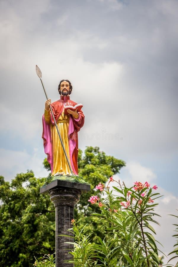 Άγαλμα του ST Thomas ο απόστολος στοκ φωτογραφία