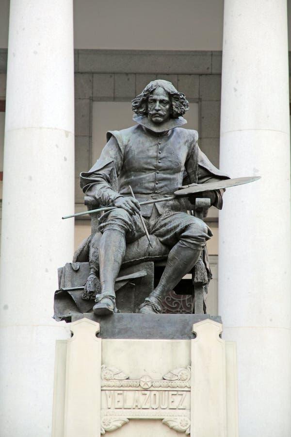 Άγαλμα του Velazquez, Museo del Prado, πόλη της Μαδρίτης, Ισπανία στοκ εικόνα με δικαίωμα ελεύθερης χρήσης