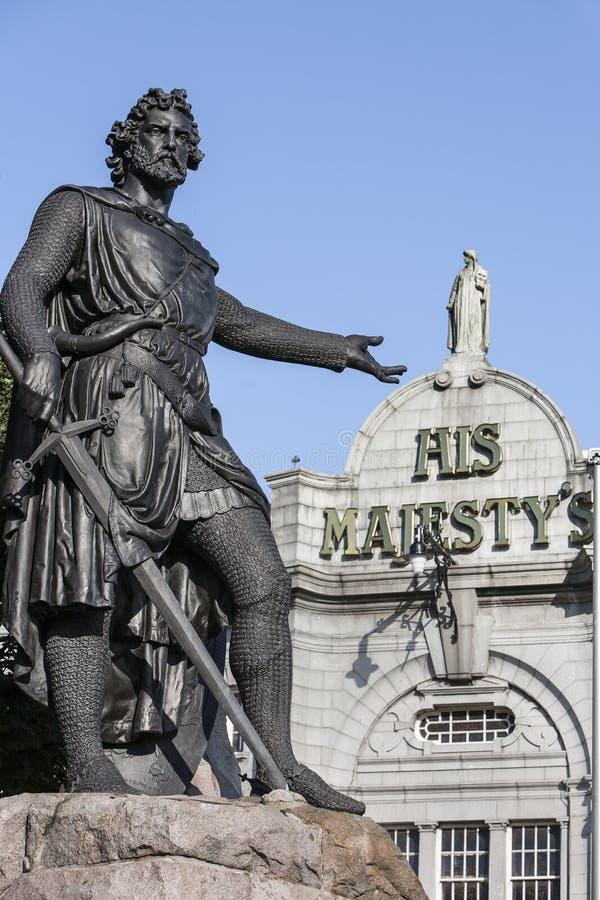 Άγαλμα του William Wallace στο Αμπερντήν, Σκωτία στοκ φωτογραφίες