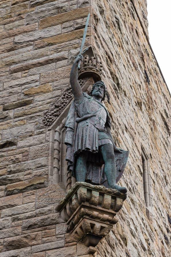 Άγαλμα του William Wallace στο εθνικό μνημείο Wallace σε Stirl στοκ φωτογραφίες με δικαίωμα ελεύθερης χρήσης