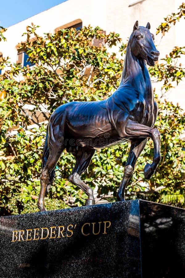 Άγαλμα φλυτζανιών κτηνοτρόφων ` s Del Mar Racetrack στοκ φωτογραφία με δικαίωμα ελεύθερης χρήσης