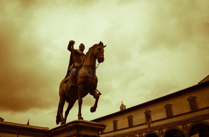 Άγαλμα Φλωρεντία αλόγων και αναβατών στοκ εικόνα με δικαίωμα ελεύθερης χρήσης
