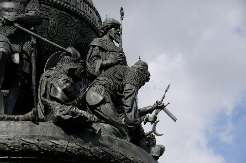 Άγαλμα χιλιετίας Novgorod στοκ εικόνα με δικαίωμα ελεύθερης χρήσης