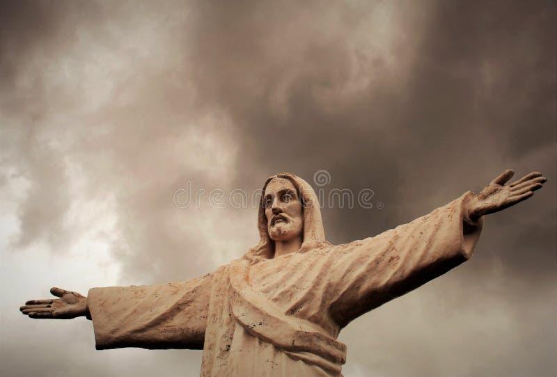 Άγαλμα Χριστού σε Cusco, Περού στοκ φωτογραφίες με δικαίωμα ελεύθερης χρήσης