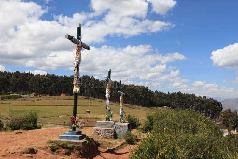 Άγαλμα Χριστού Cuzco στοκ εικόνες
