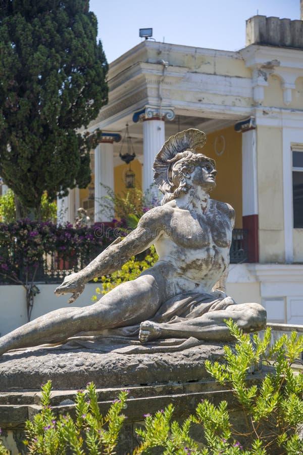 Άγαλμα Achilleion στην Κέρκυρα, Ελλάδα στοκ φωτογραφίες με δικαίωμα ελεύθερης χρήσης