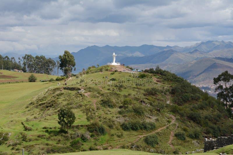 Άγαλμα, Christo, Blanco, λευκό, Ιησούς Χριστός, Cusco, Περού, Άνδεις, στοκ φωτογραφίες