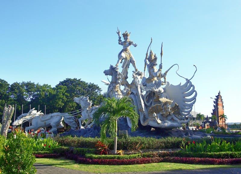 Άγαλμα gatotkaca Satria, Μπαλί στοκ εικόνες
