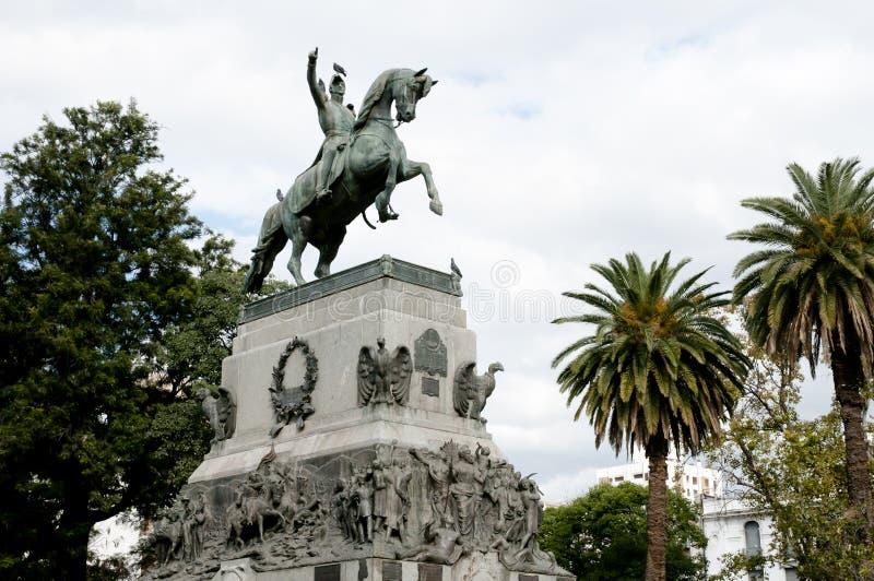 Άγαλμα General Jose de SAN Martin - της Κόρδοβα - της Αργεντινής στοκ φωτογραφίες με δικαίωμα ελεύθερης χρήσης