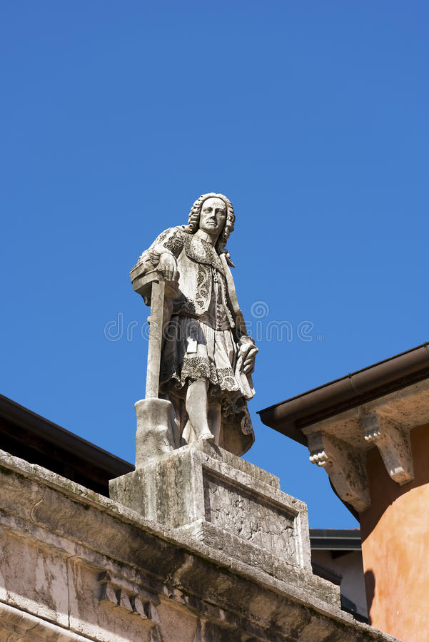 Άγαλμα Maffei Scipione - Βερόνα Ιταλία στοκ εικόνες