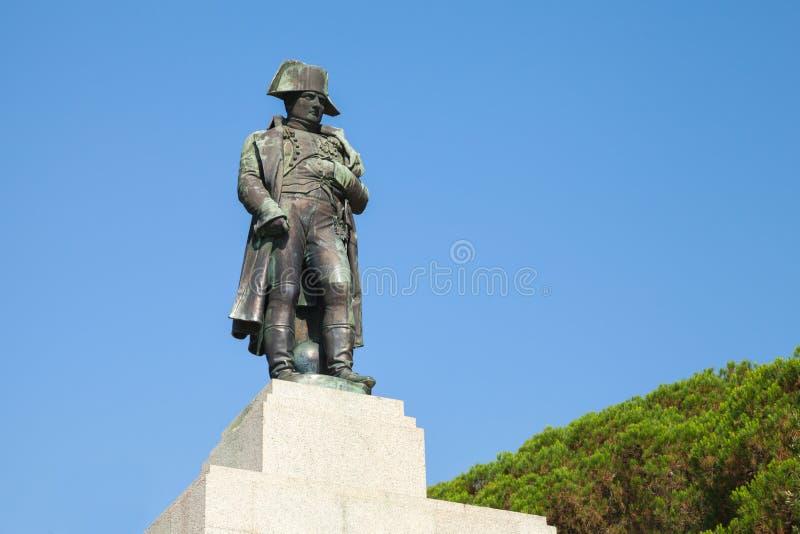 Άγαλμα Napoleon Bonaparte, Ajaccio, Γαλλία στοκ εικόνα