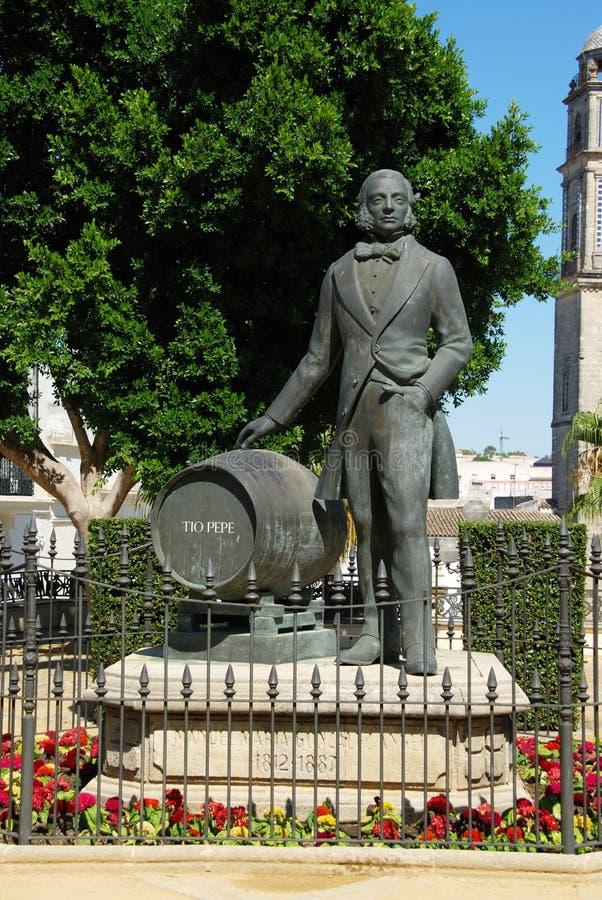 Άγαλμα Pepe Tio, Λα Frontera Jerez de στοκ φωτογραφία με δικαίωμα ελεύθερης χρήσης