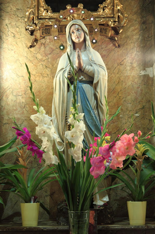 άγαλμα Virgin Mary στοκ φωτογραφία με δικαίωμα ελεύθερης χρήσης