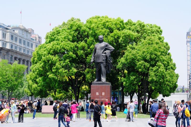 Άγαλμα Yi Chen στο φράγμα στη Σαγκάη Κίνα στοκ φωτογραφία με δικαίωμα ελεύθερης χρήσης