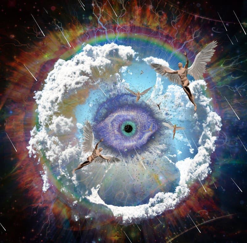Άγγελοι και μάτι Θεών ` s στοκ εικόνα