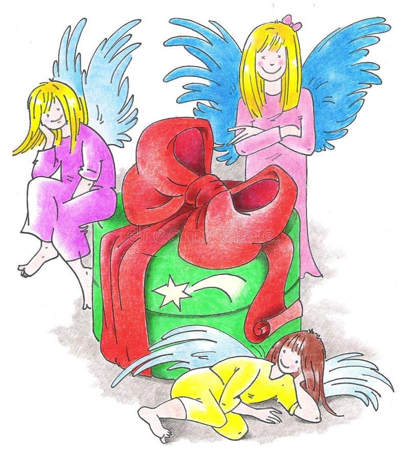 άγγελοι τρία απεικόνιση αποθεμάτων
