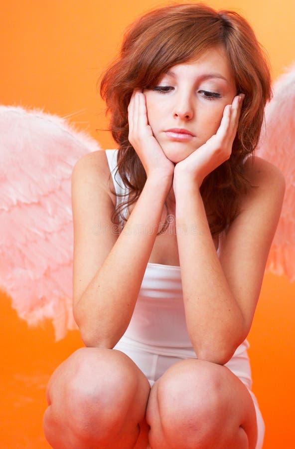 άγγελος λυπημένος στοκ εικόνα με δικαίωμα ελεύθερης χρήσης