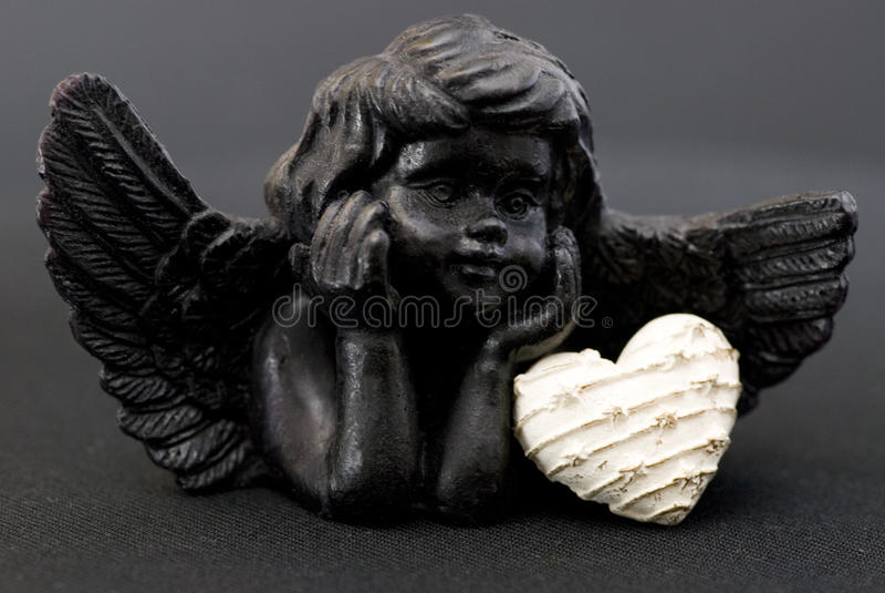 άγγελος μαύρος λίγα στοκ εικόνα με δικαίωμα ελεύθερης χρήσης