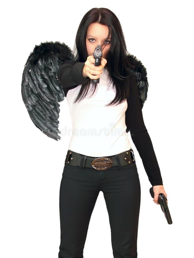 άγγελος μαύρο girl1 στοκ εικόνες