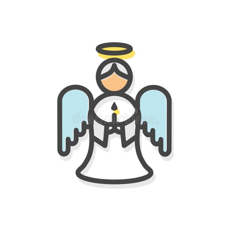Άγγελος με τη διανυσματική απεικόνιση Χριστουγέννων φτερών απεικόνιση αποθεμάτων