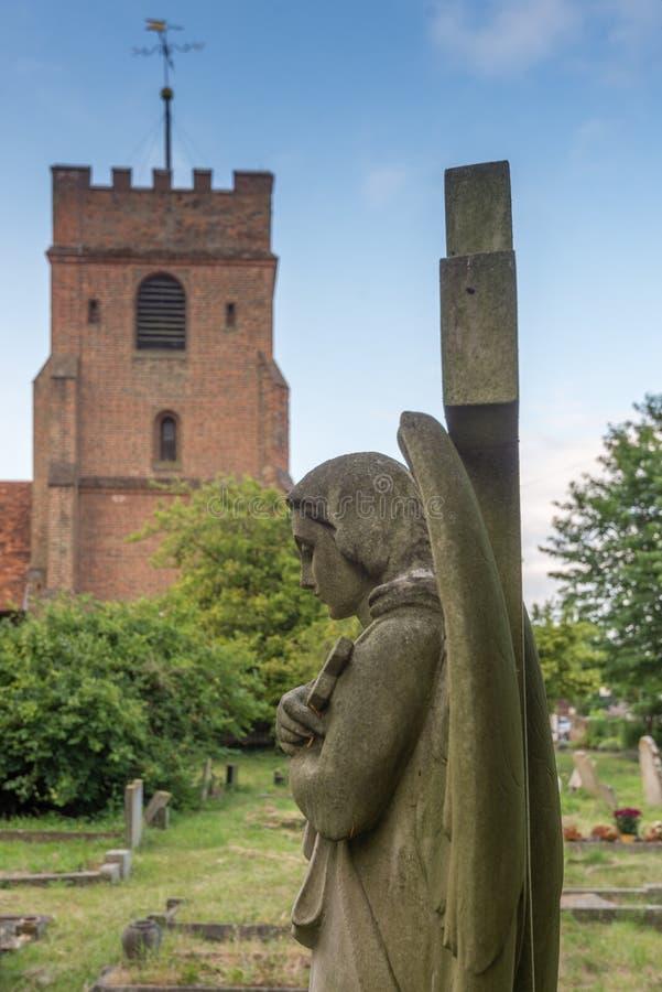 Άγγελος στο νεκροταφείο στοκ εικόνες