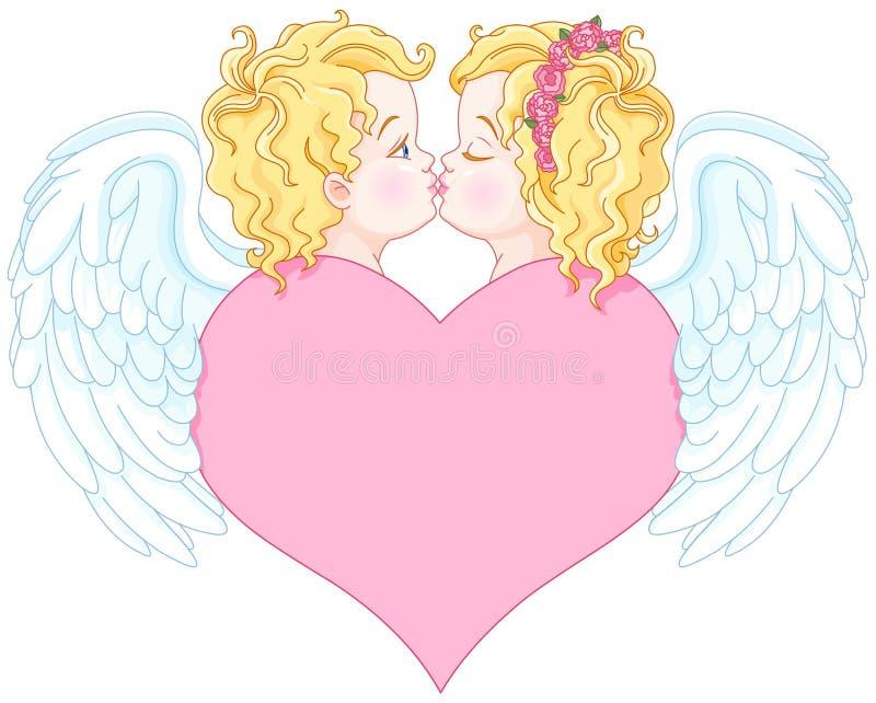 Άγγελοι ερωτευμένοι διανυσματική απεικόνιση