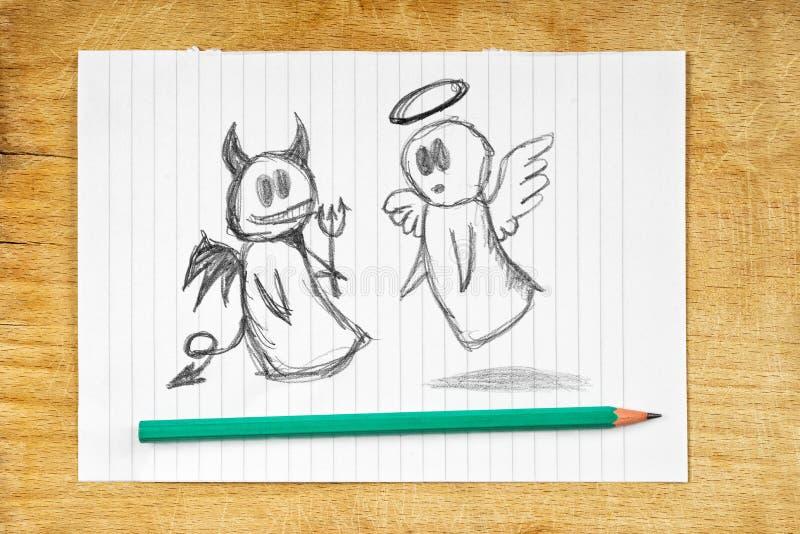 Άγγελος και διάβολος διανυσματική απεικόνιση
