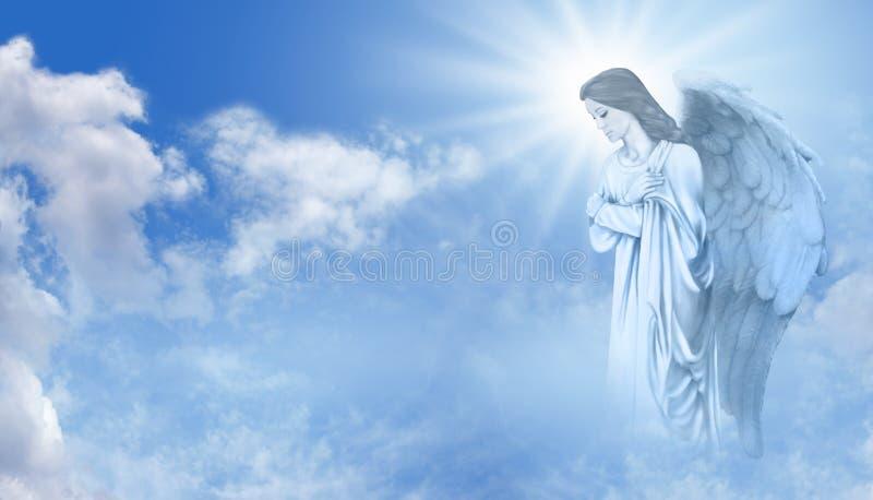 Άγγελος που προσέχει πέρα από σας ελεύθερη απεικόνιση δικαιώματος