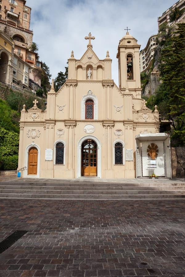 Άγιος αφιερώνει το παρεκκλησι στο Μονακό στοκ εικόνα