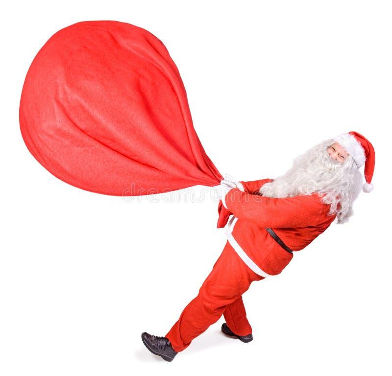 Άγιος Βασίλης με μια μεγάλη τσάντα στοκ εικόνες με δικαίωμα ελεύθερης χρήσης