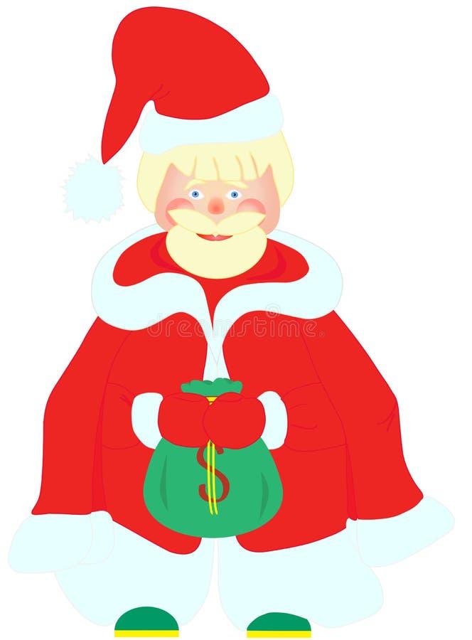 Άγιος Βασίλης με το σύνολο σακουλών των χρημάτων ελεύθερη απεικόνιση δικαιώματος
