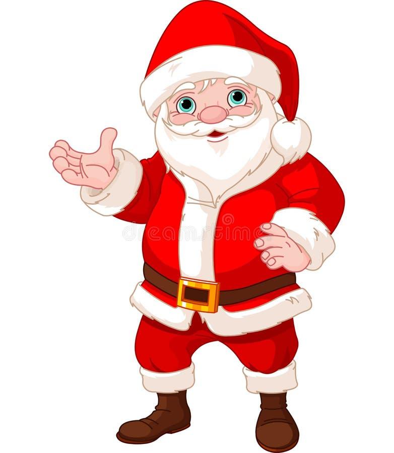 Άγιος Βασίλης που εμφανίζει για να αντιγραφεί το διάστημα διανυσματική απεικόνιση