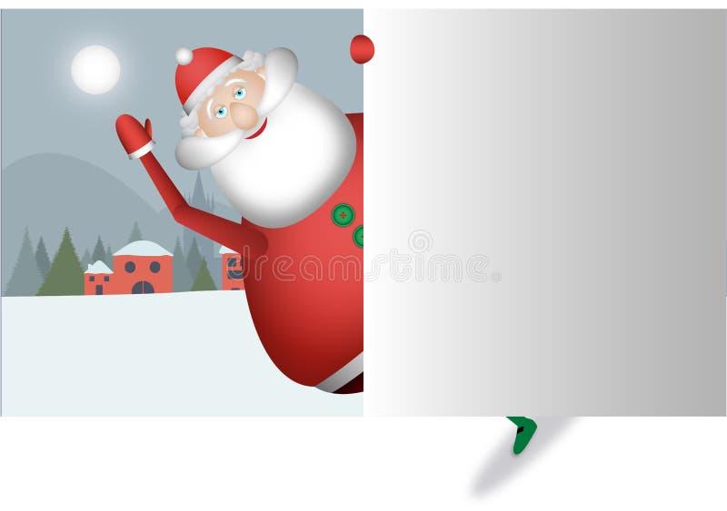 Άγιος Βασίλης σας πλησιάζει και χαιρετά με το τεράστιο χαμόγελό του στοκ φωτογραφίες με δικαίωμα ελεύθερης χρήσης