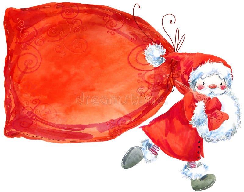 Άγιος Βασίλης αστείο santa κάρτα που χαιρετά το νέο έτος ελεύθερη απεικόνιση δικαιώματος